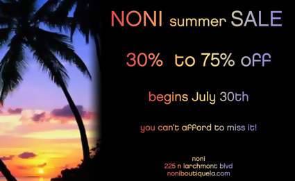 Summer Sale at Noni on Larchmont
