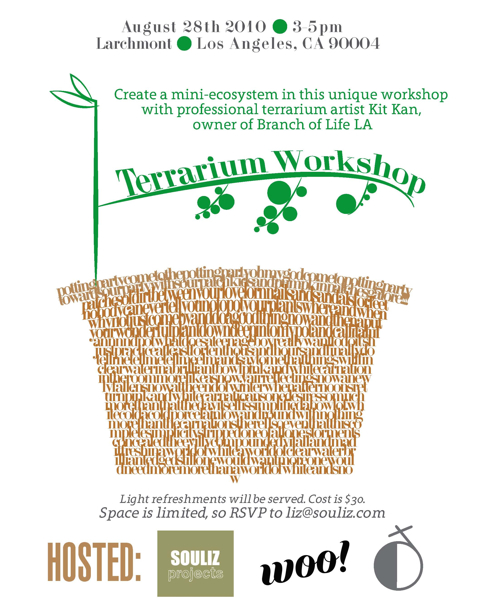 Terrarium Workshop in Larchmont LA