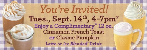Free Autumn Drink at The Coffee Bean and Tea Leaf