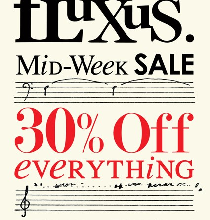 Fluxus Mid-Week Sale on Larchmont