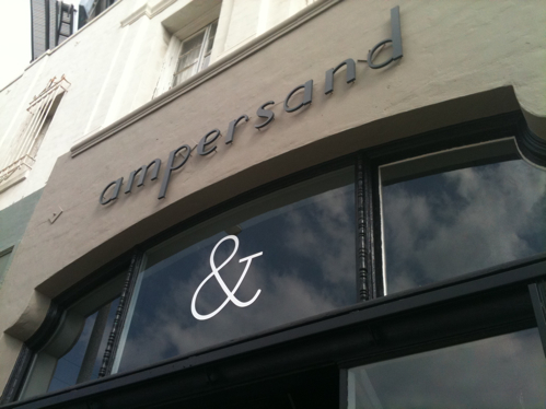 Ampersand Women's Boutique on Larchmont near Melrose