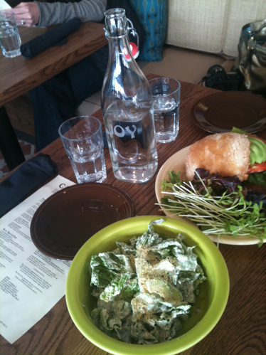 Salad and Sandwich at Cafe Gratitude LA