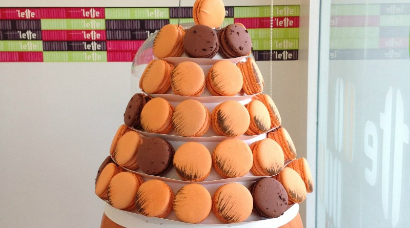Pumpkin Macarons at Lette