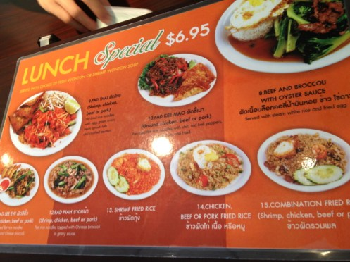 Vim Thai Restaurant Lunch Specials!
