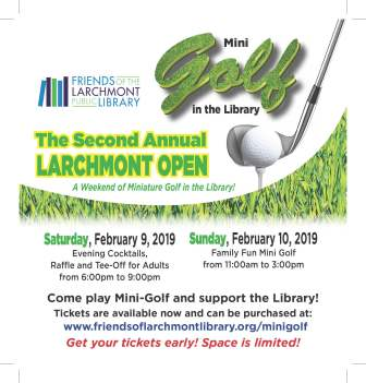 MiniGolf in the Larchmont Library - Family Day @ Larchmont Public Library |  |  |