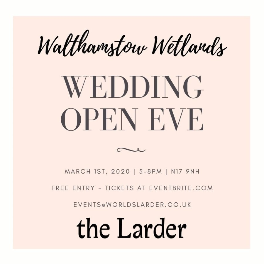 Wedding Open Evening – Walthamstow Wetlands