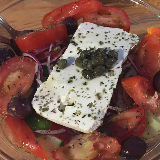 Horiatiki - Greek Village Salad; the flavours of summer in a single plate