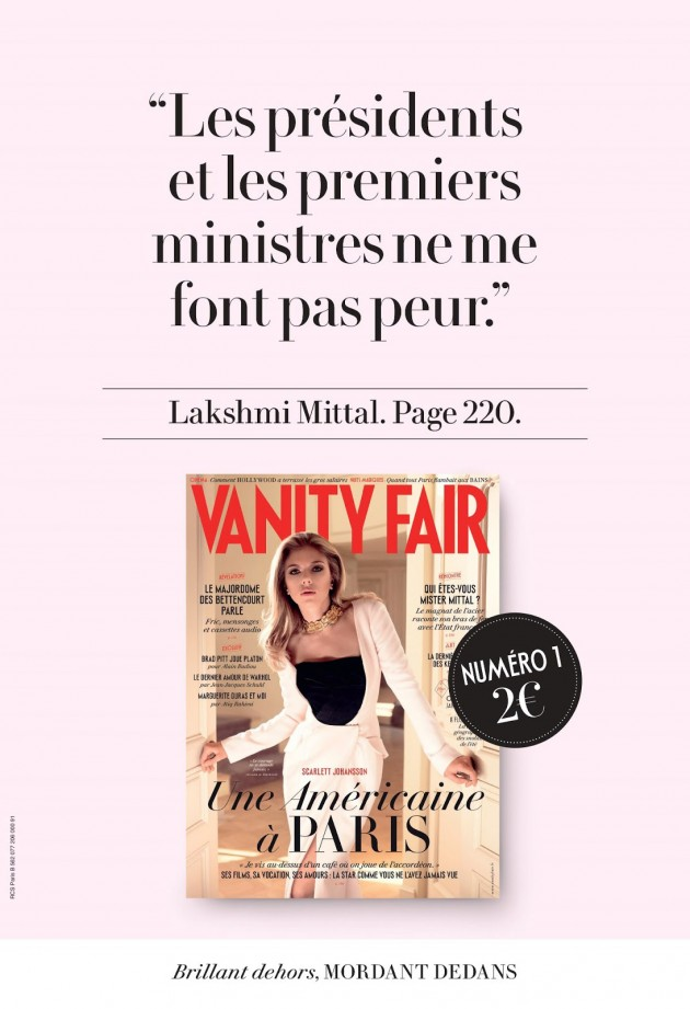 Pub Vanity Fair 2013 Je Vous Dis Merde