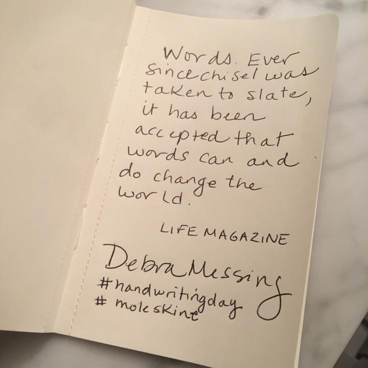 Moleskine - #HandwritingDay 01