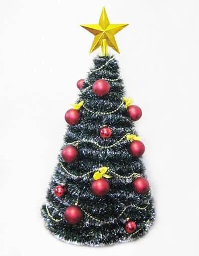 Мишурадан келген шыршасы Жаңа жыл үшін: elka iz mishury 9 жасаудың түрлі тәсілдері