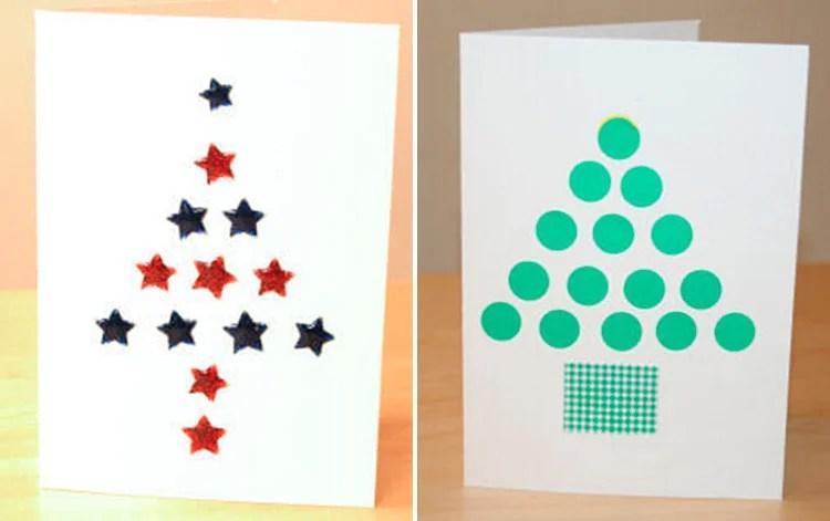 کارت پستال برای سال جدید با دستان خود: صنایع دستی ساده و اصلی در مهد کودک و مدرسه 3 4