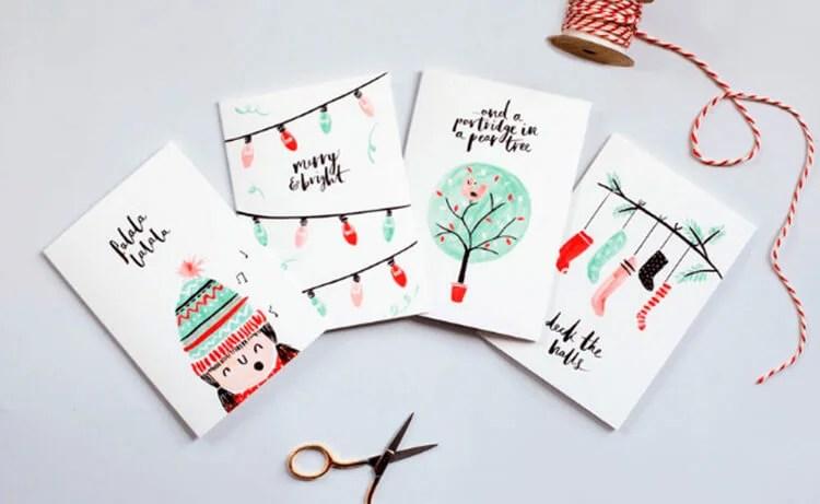 کارت پستال برای سال نو با دستان خود: صنایع دستی ساده و اصلی در مهد کودک و مدرسه Novogodnyaya otkrytka Svoimi Rukami 37