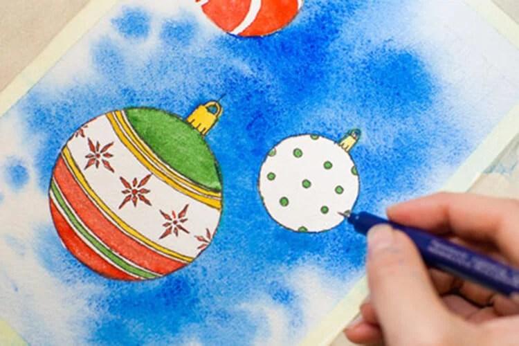 Dessins pour sujets de Noël: Que puis-je dessiner pour la nouvelle année Risunki Na Novogodnyuyu Temu 101