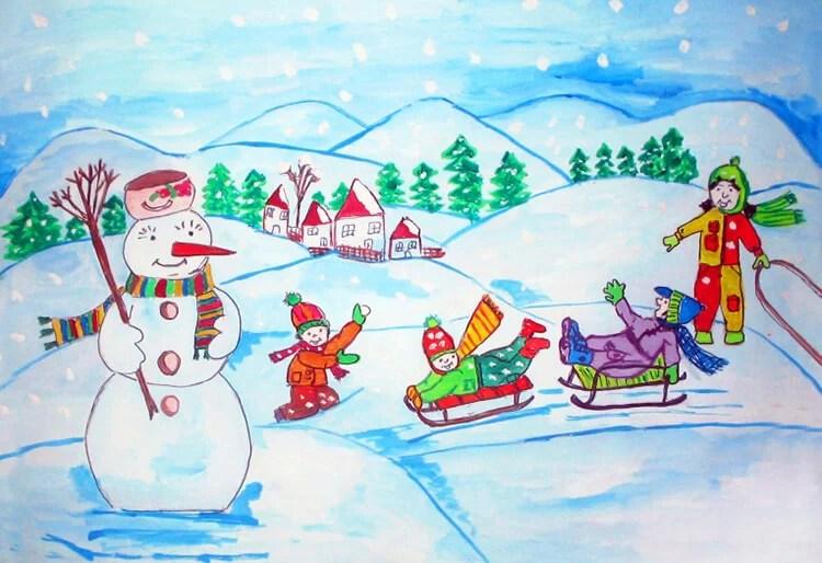 크리스마스 주제용 도면 : 새해를 위해 무엇을 그릴 수 있습니까? Risunki novodnyuyu temu 124