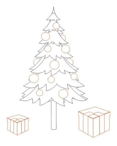 Dessins pour sujets de Noël: Que peut-on tirer sur la nouvelle année Risunki Na Novogodnyuyu Temu 21