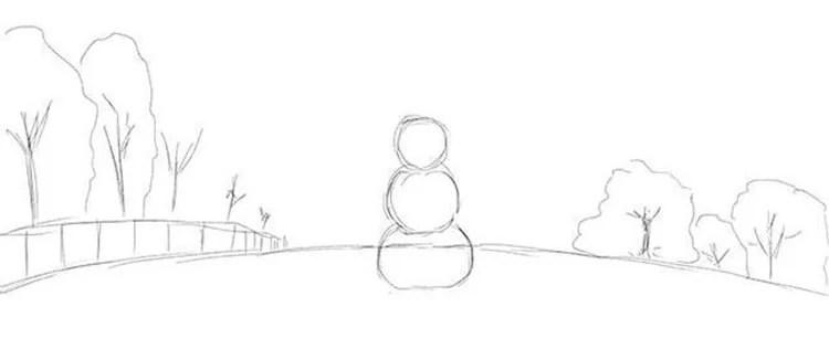 Dessins pour le sujet de Noël: Que puis-je dessiner pour la nouvelle année Risunki Na Novogodnyuyu Temu 36