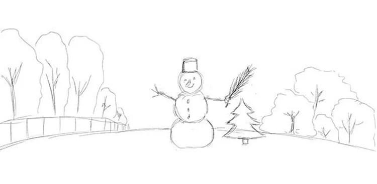 Dessins pour sujets de Noël: Que peut-on tirer sur la nouvelle année Risunki Na Novogodnyuyu Temu 39