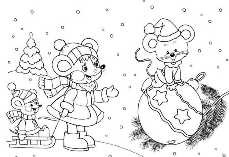 크리스마스 주제용 도면 : 새해를 위해 무엇을 그릴 수 있습니까? Risunki NovoDnyuyu Temu 55