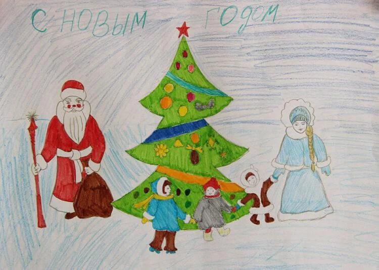 크리스마스 주제용 도면 : 새해에 그려 졌을 수있는 risunki novodnyuyu temu 63