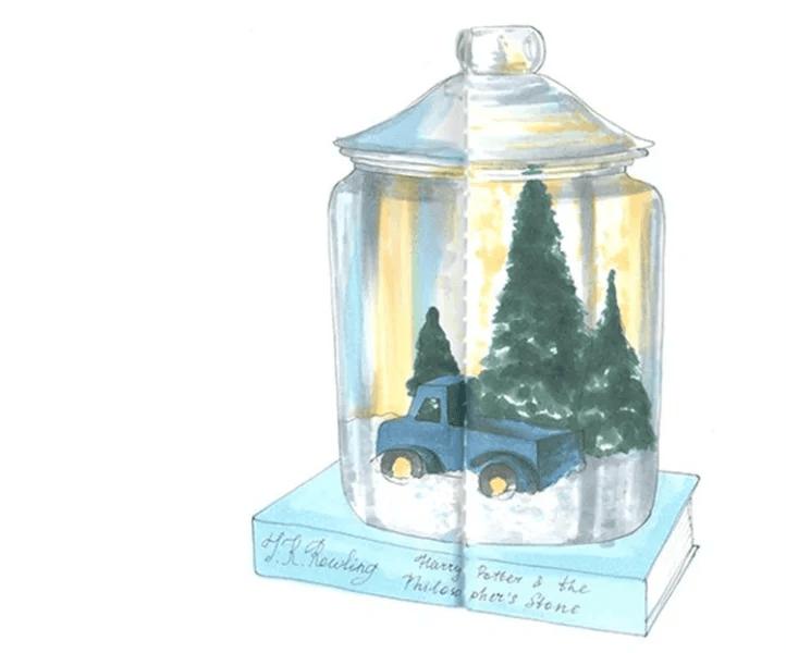 크리스마스 주제용 도면 : 새해를 위해 무엇을 그릴 수 있습니까? Risunki Novodnyuyu Temu 70