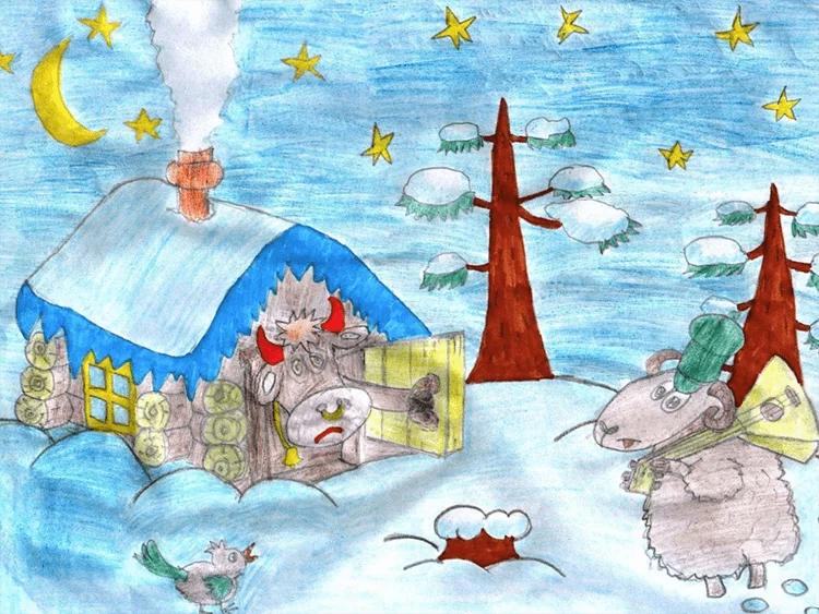 Рисунки на новогоднюю тематику: что можно нарисовать на Новый год risunki na novogodnyuyu temu 80