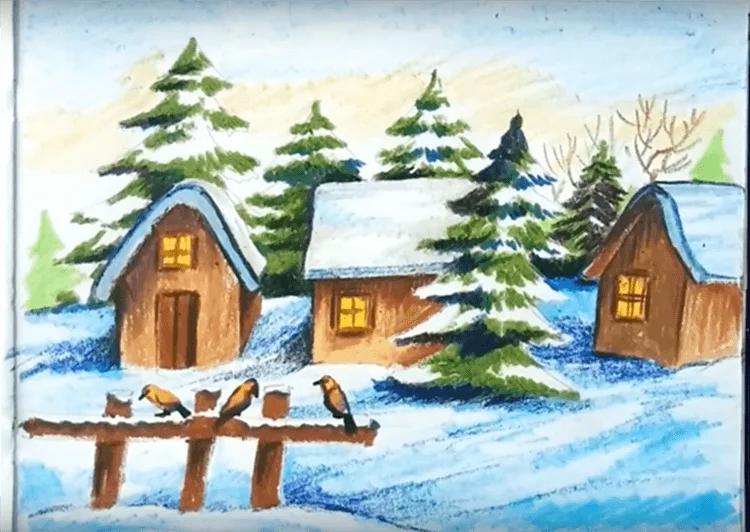 Dessins pour sujets de Noël: Que peut-on tirer sur la nouvelle année Risunki Na Novogodnyuyu Temu 84