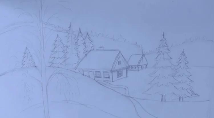 Рисунки на новогоднюю тематику: что можно нарисовать на Новый год risunki na novogodnyuyu temu 89