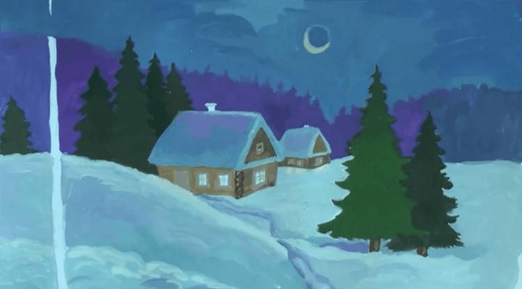 Dessins pour sujets de Noël: Que peut-on tirer sur la nouvelle année Risunki Na Novogodnyuyu Temu 91