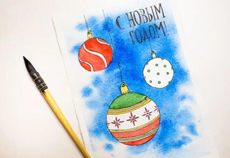 Dessins pour sujets de Noël: Que puis-je dessiner pour la nouvelle année Risunki Na Novogodnyuyu Temu 93