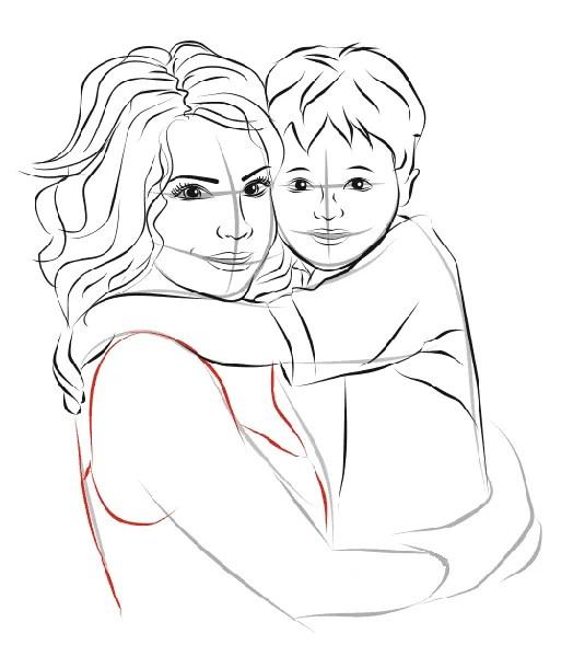 Çocukların Anneler Günü için Çizimleri: Paper'da Anne İçin Sevginizi Ekspres Risunok Na Den Materi 44