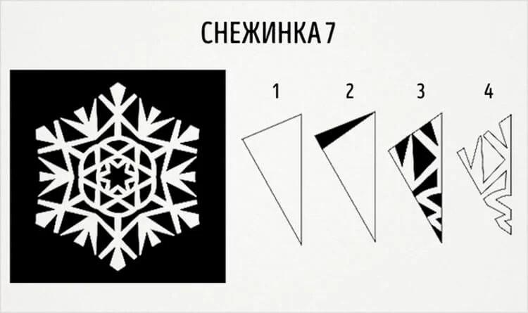美丽的原始雪花为新的一年:创建自己的手,模板与照片Snezhinki Iz Bumagi Svoimi Rukami 15