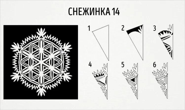 美丽的原始雪花为新的一年:创建自己的手,模板与照片Snezhinki Iz Bumagi Svoimi Rukami 22
