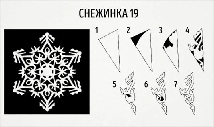 新年美丽的原始雪花:创建自己的手,模板与照片Snezhinki Iz Bumagi Svoimi Rukami 27
