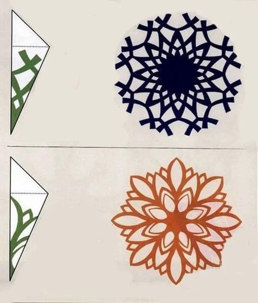 新年美丽的原始雪花:创建自己的手,模板与照片Snezhinki Iz Bumagi Svoimi Rukami 96