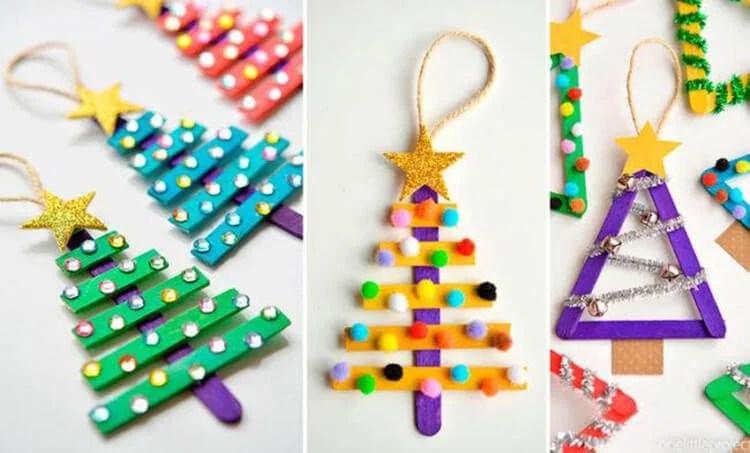 Artesanato para o Ano Novo com as suas próprias mãos: Fazemos na competição da escola e do jardim de infância Podelki K Novomu Godu 117