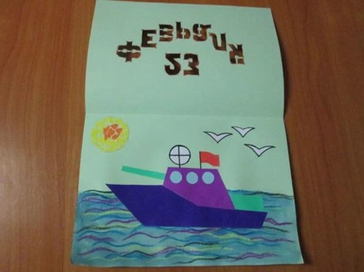 儿童船:使用方案创建的各种方式和描述Korabl Svoimi Rukami 55
