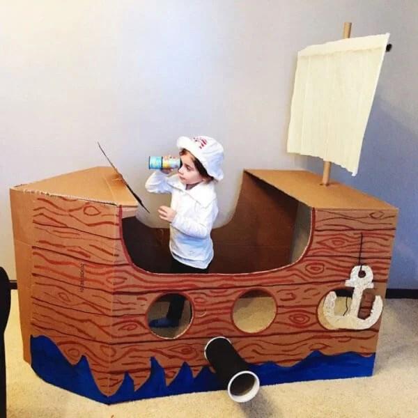 船舶为儿童:使用方案创建的各种方式和描述Korabl Svoimi Rukami 70