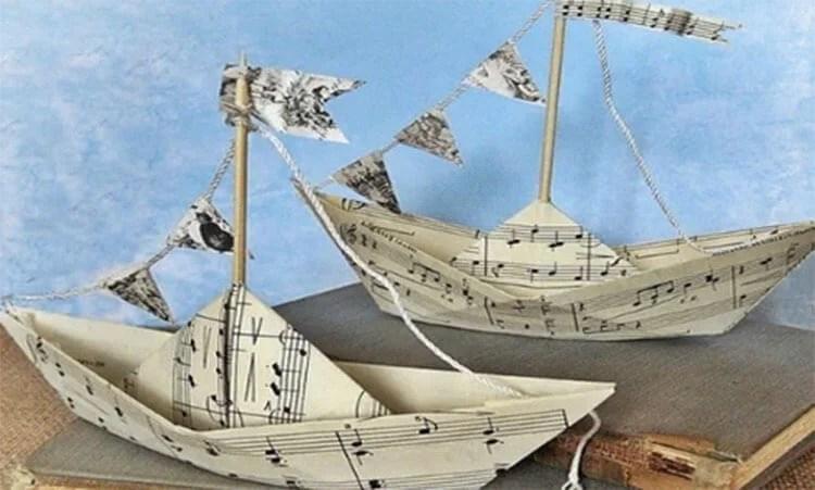 船舶为儿童:使用方案创建的各种方式和描述Korabl Svoimi Rukami 74