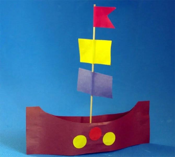 船舶为儿童:使用方案创建的各种方式和描述Korabl Svoimi Rukami 75