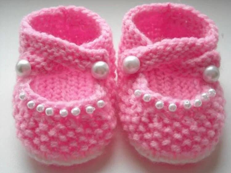 Пинетки для новорожденных малышей спицами: что можно связать для первой обуви малышам pinetki spicami s opisaniem i skhemami 73