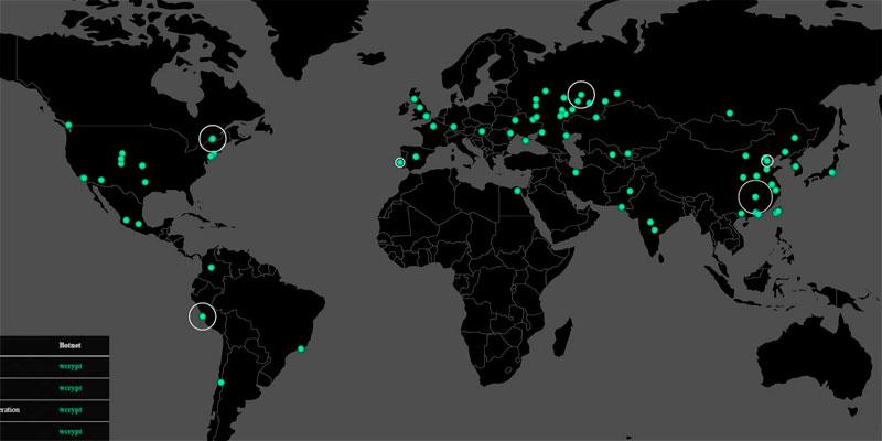 El WannaCry afectó a varios países