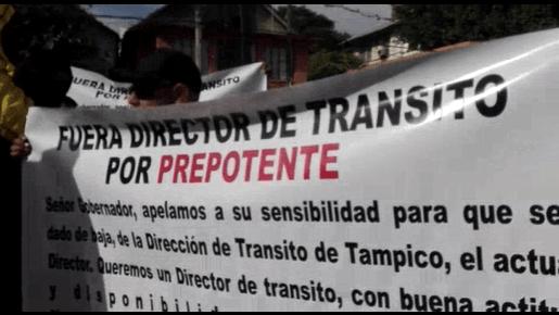 Exigen renuncia del Director de Tránsito
