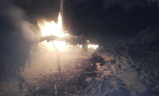 Incendian palapa de Playa Miramar