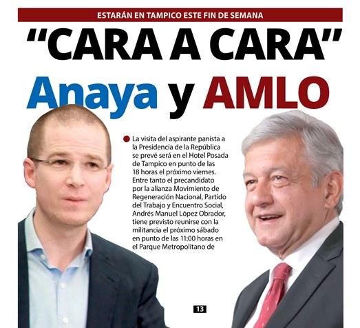 """""""Cara a cara"""" AMLO y Anaya"""