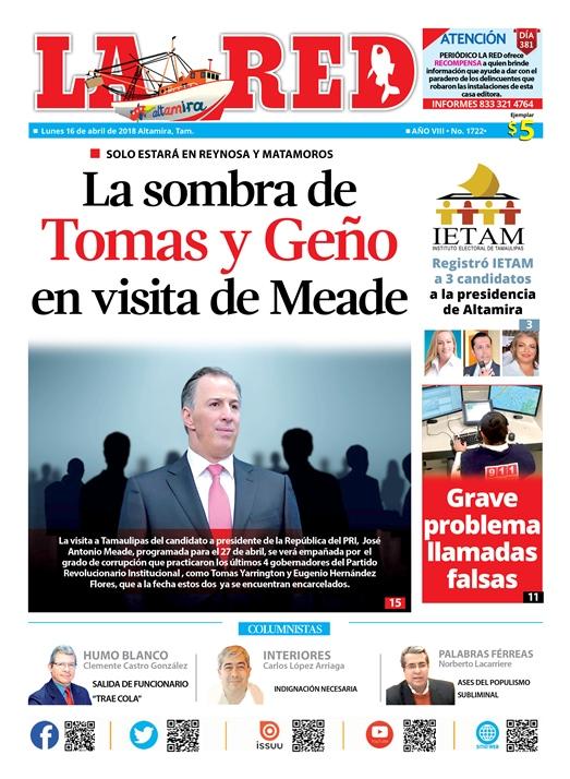 Sombra de Tomas y Geño en la visita de Meade