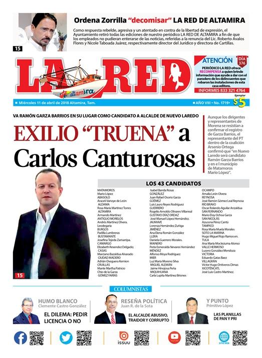 """Exilio """"truena"""" a Carlos Canturosas"""