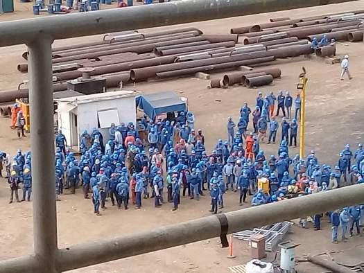 Paralizan 300 obreros a Dragados Off Shore