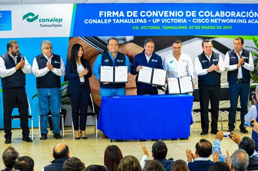 Firman Convenio CONALEP Tamaulipas – UPV – Cisco Networking Academy
