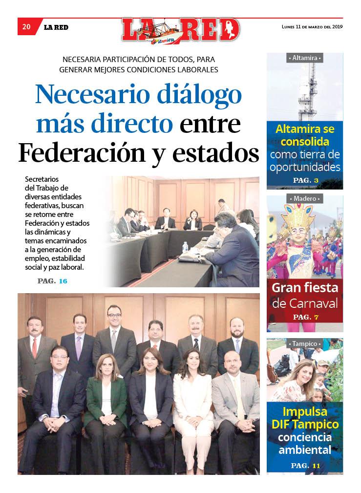 Necesario diálogo más directo entre Federación y estados