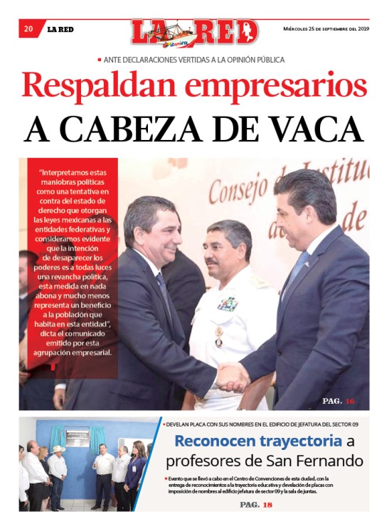 Respaldan empresarios A CABEZA DE VACA